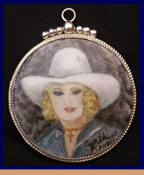 Painted China Ware Cowgirl